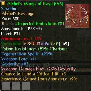 Abdiel's Illuminated Shield of Rage